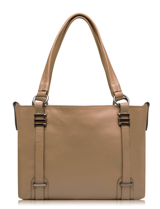 8d76efbc699b Модель: ACCENT - бежевая кожаная сумочка на любой момент жизни. www ...